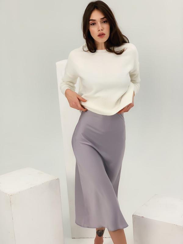 Шелков юбка миди - Фото 6