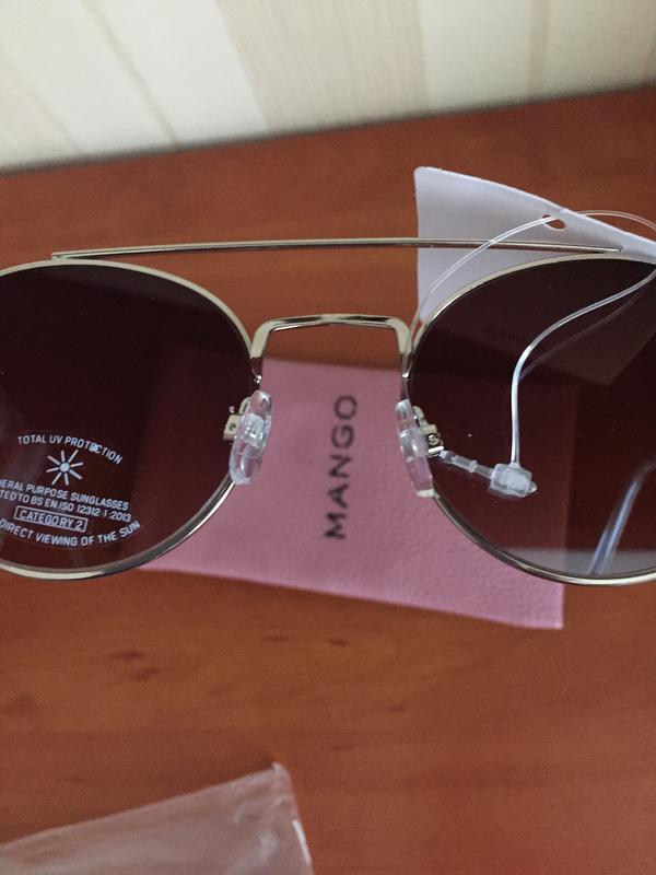 Не zara солнцезащитные очки mango солнечные очки зеркальные 2018 - Фото 2