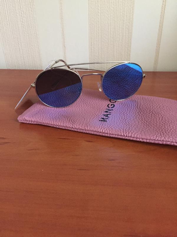 Не zara солнцезащитные очки mango солнечные очки зеркальные 2018 - Фото 3