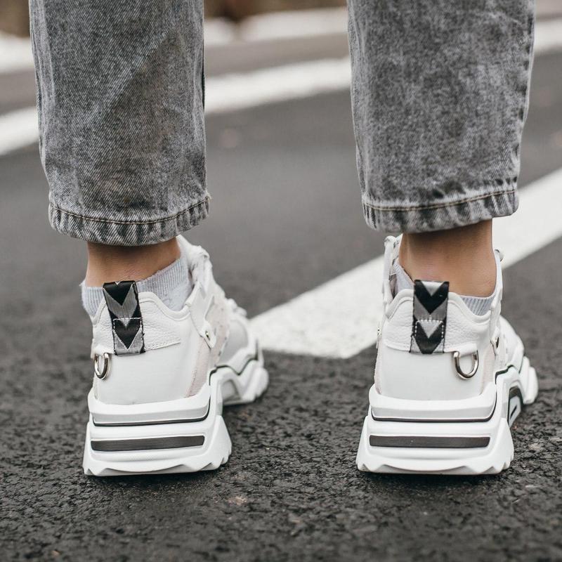 Крутые Женские Кроссовки Calvin Klein Strike 205 White - Фото 4