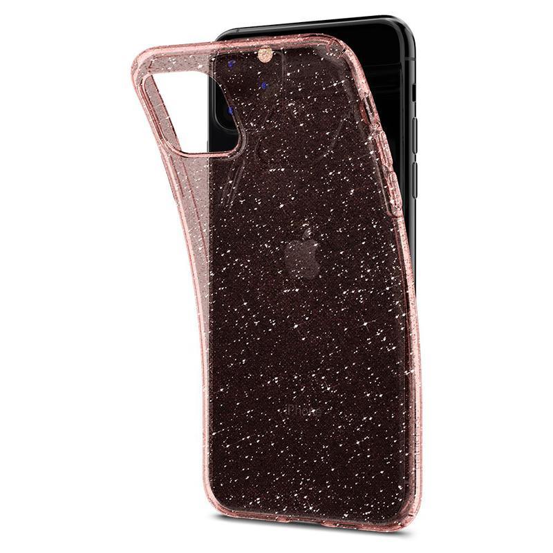 Чехол Spigen Liquid Crystal Glitter для iPhone 11 Pro Rose Quartz - Фото 5