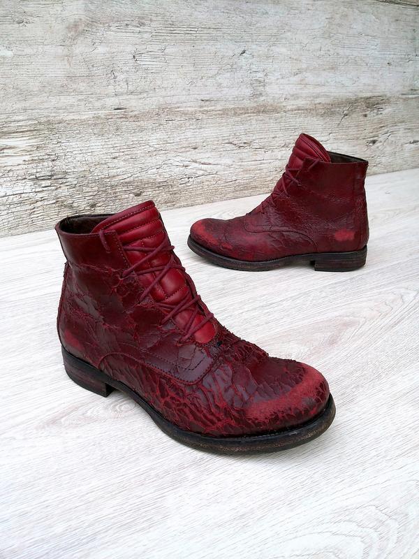 I.n.k. italy стильные и дерзкие дизайнерские ботинки ручной ра... - Фото 2