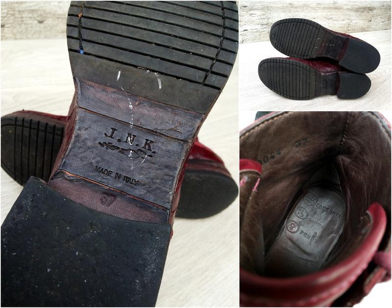 I.n.k. italy стильные и дерзкие дизайнерские ботинки ручной ра... - Фото 5