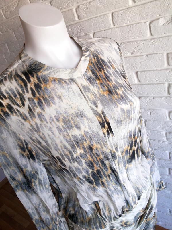 Maje riviere leopard print шелковое платье с леопардовым принтом - Фото 6