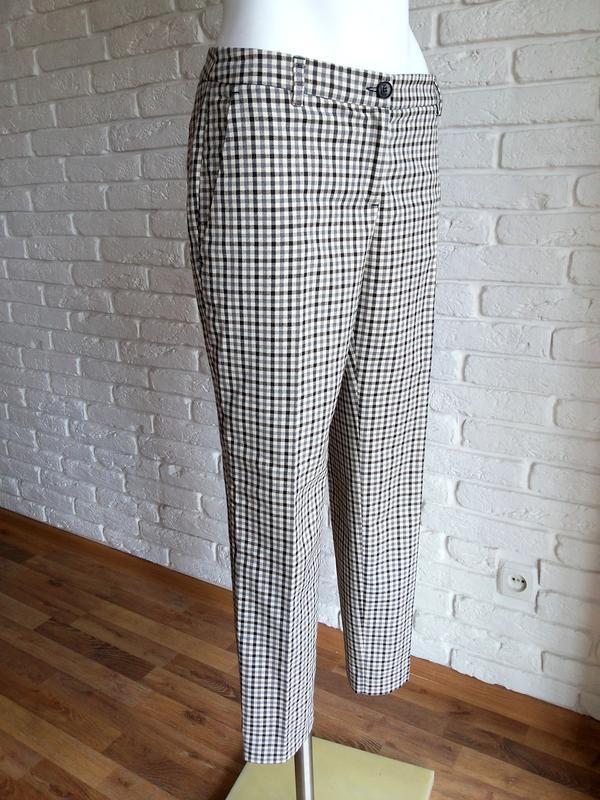 Twin-set simona barbieri брюки слаксы в клетку / чиносы штаны ... - Фото 2