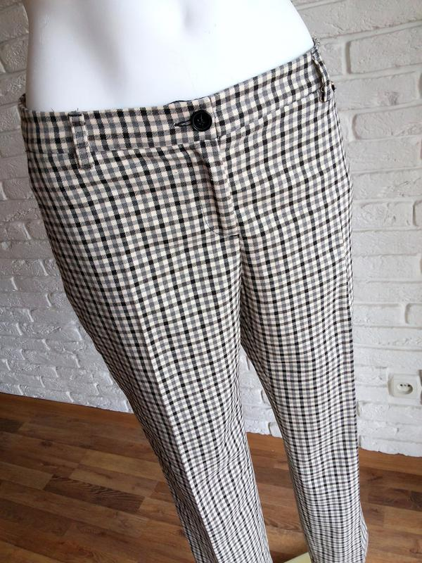 Twin-set simona barbieri брюки слаксы в клетку / чиносы штаны ... - Фото 3