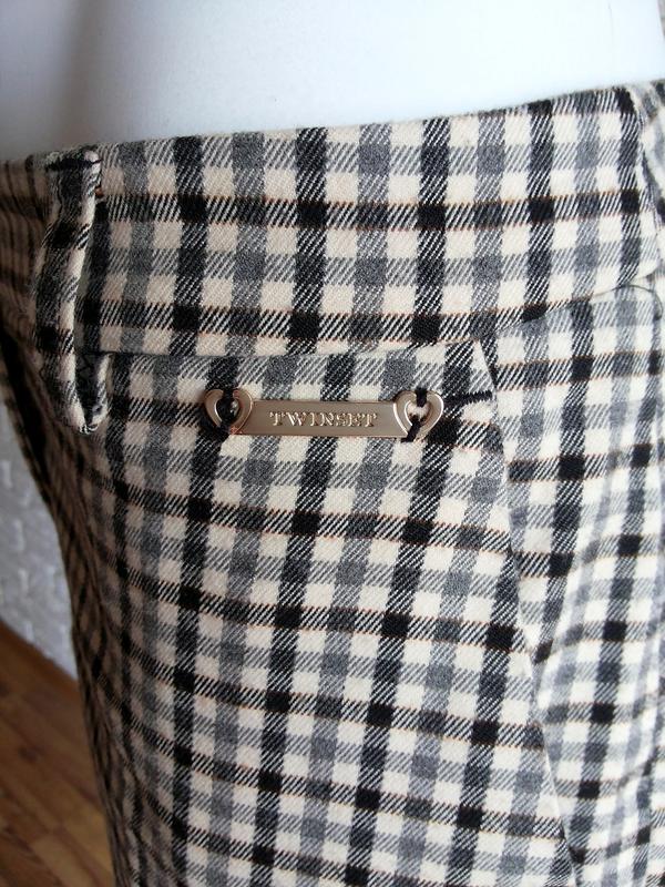 Twin-set simona barbieri брюки слаксы в клетку / чиносы штаны ... - Фото 4