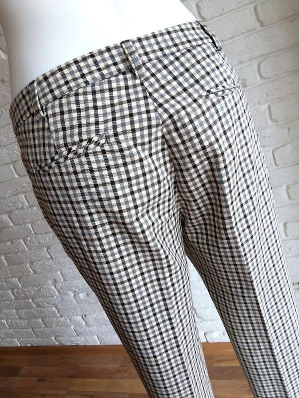 Twin-set simona barbieri брюки слаксы в клетку / чиносы штаны ... - Фото 6