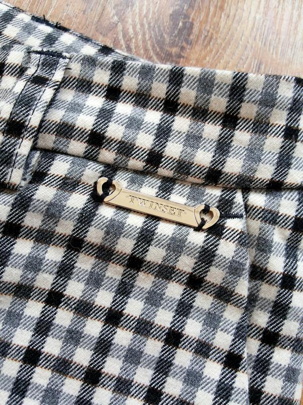 Twin-set simona barbieri брюки слаксы в клетку / чиносы штаны ... - Фото 8