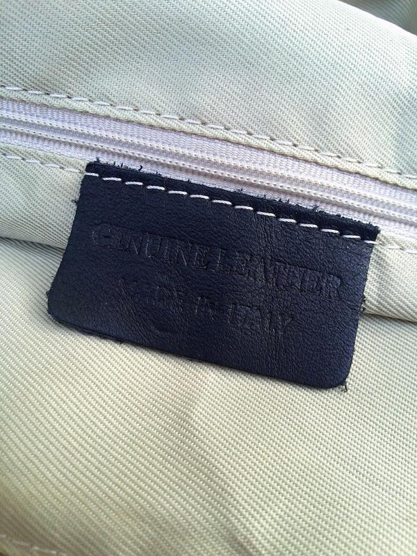 Итальянская очень большая и вместительная кожаная сумка кожа к... - Фото 9