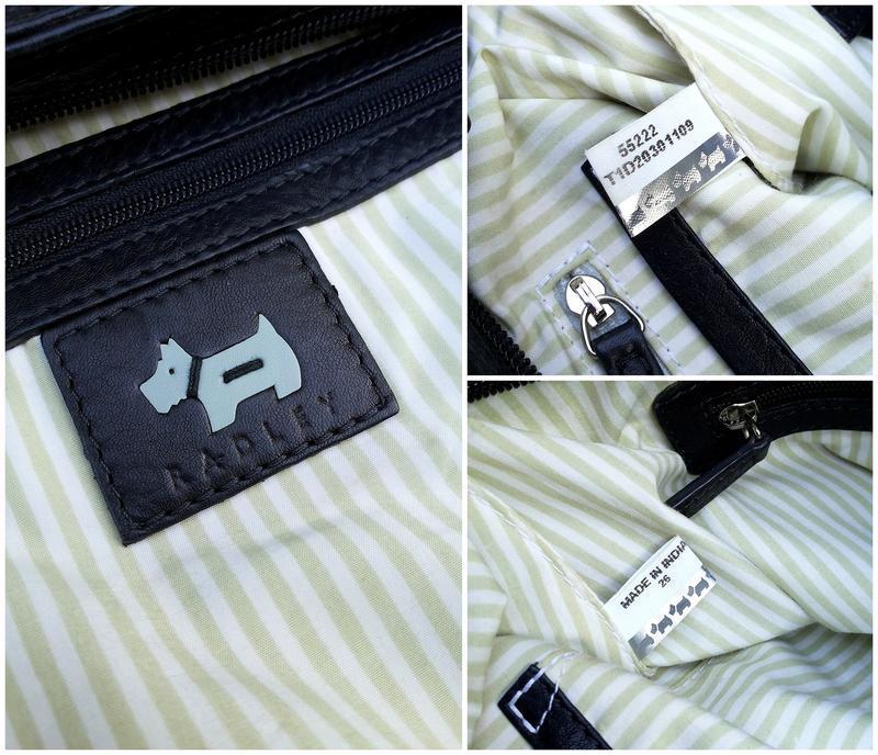 Radley кожаная сумка номерная (англия) 100% оригинал 100% нату... - Фото 10