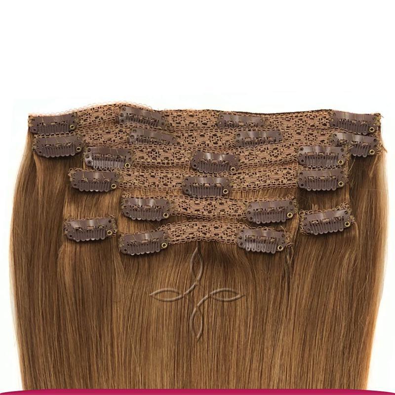 Волосся на кліпсах європейське 50 см 100 грам, Шоколад №06 - Фото 2