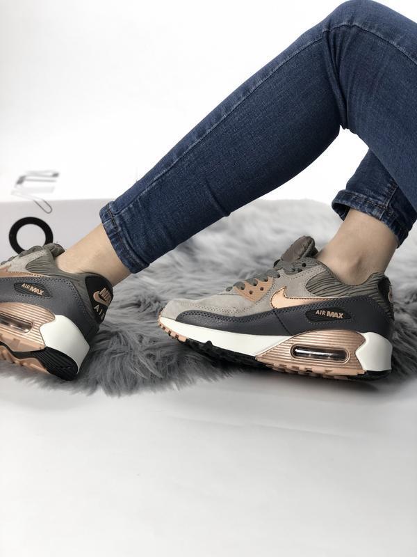 Кроссовки женские air max 90 - Фото 4