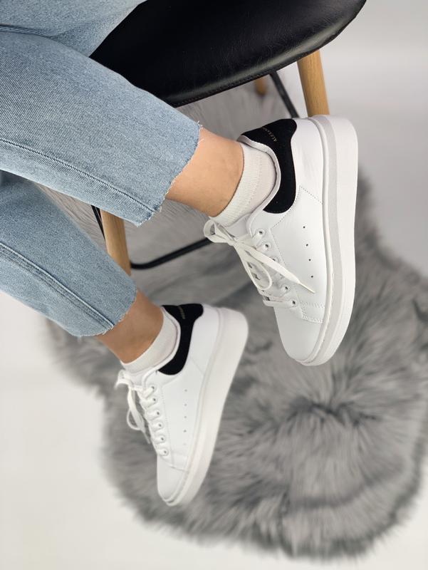 Кроссовки женские кожаные - Фото 4