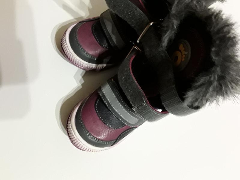 Фирменные кожаные теплые сапоги сапожки - Фото 4