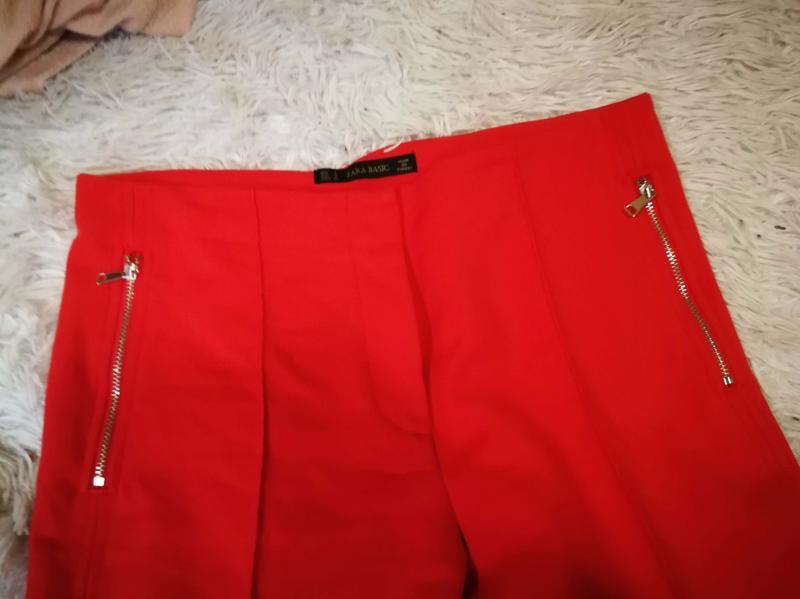Яркие брюки со стрелкой zara р. s - Фото 5