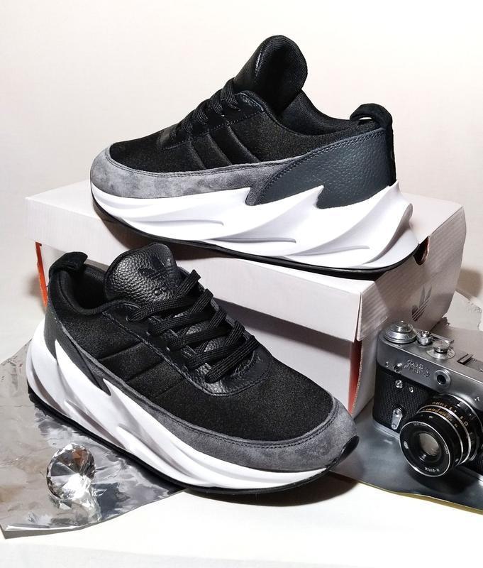Кроссовки мужские adidas sharks gray black