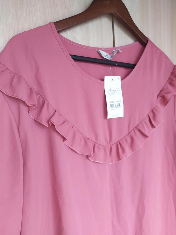 Блуза с рюшами - Фото 2