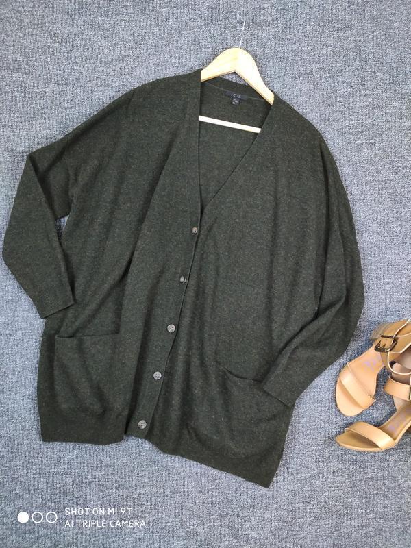 Шерстяной свитер -кардиган от cos раз.м - Фото 8