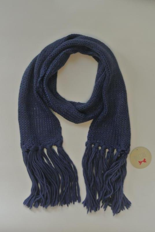 17-163 вязаный шарф с блестящей нитью и бахромой - Фото 2