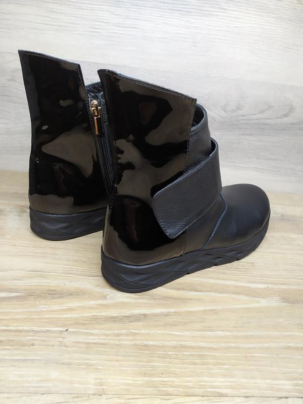 Кожаные зимние ботинки , 37 38  размера  , кожаные ботинки , ш... - Фото 2