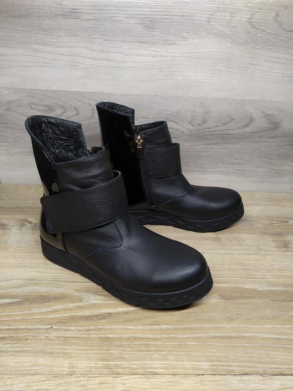 Кожаные зимние ботинки , 37 38  размера  , кожаные ботинки , ш... - Фото 5