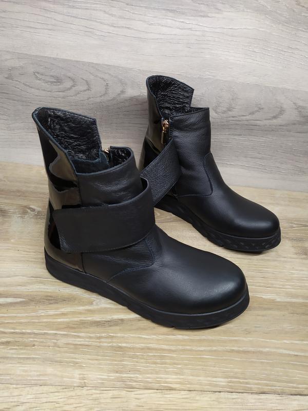 Кожаные зимние ботинки , 37 38  размера  , кожаные ботинки , ш... - Фото 6