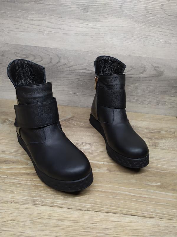 Кожаные зимние ботинки , 37 38  размера  , кожаные ботинки , ш... - Фото 7