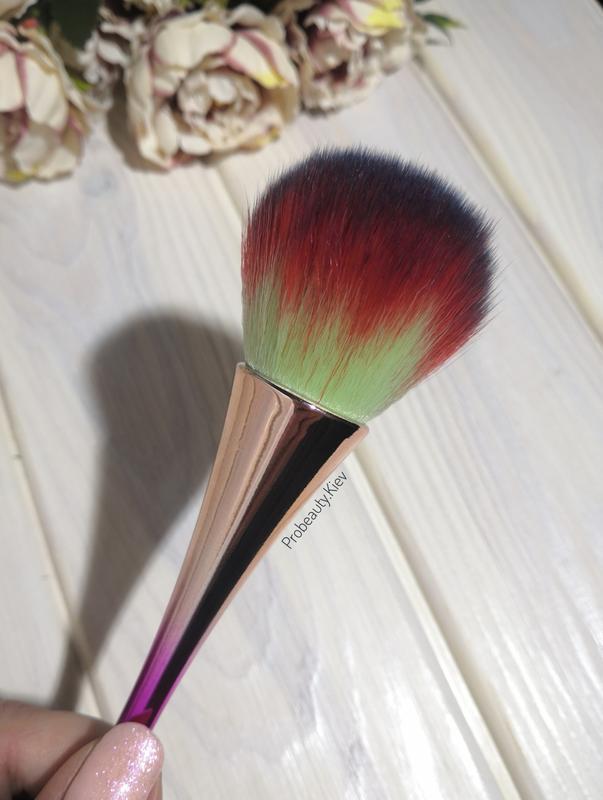 Кисть для макияжа для пудры, румян или сметка для маникюра gra... - Фото 2