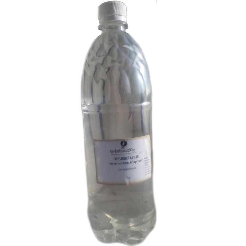 Квіткова вода (гідролат) перцевої мяти, перечной мяты гидролат 1л