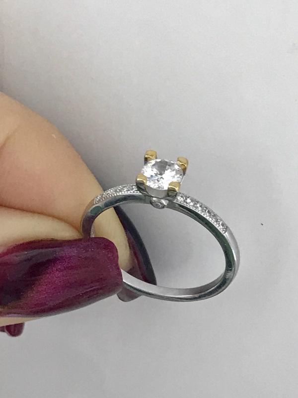 Кольцо серебро 925 пробы 44127 - Фото 2