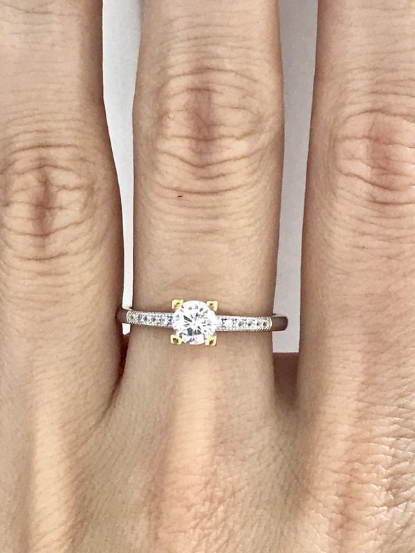 Кольцо серебро 925 пробы 44127 - Фото 3