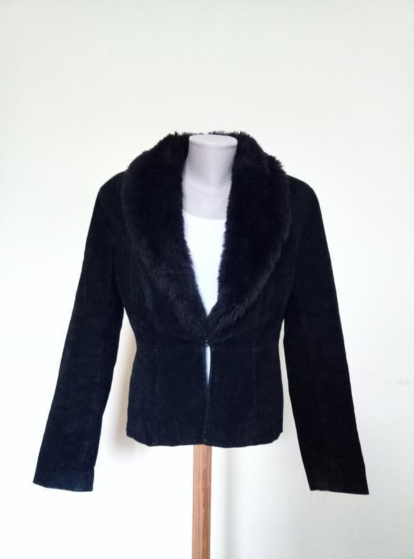 Натуральная замша брендовая куртка автоледи - Фото 2