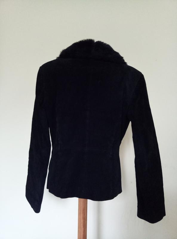 Натуральная замша брендовая куртка автоледи - Фото 4