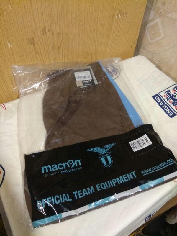 Lazio macron training sweat shorts шорты лацио футбол италия м - Фото 2