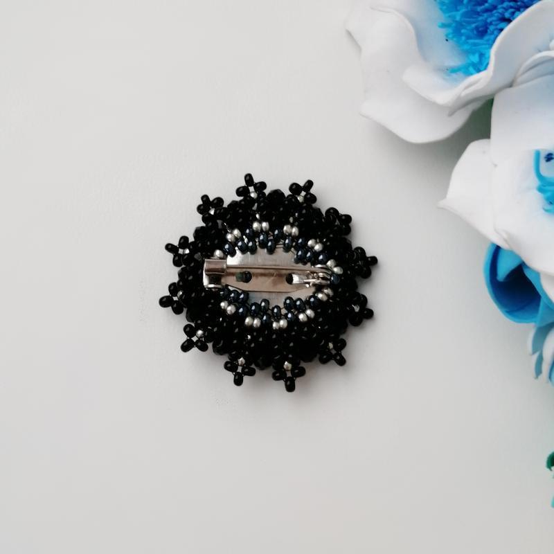 Элегантная черная брошь «elegance». ручная работа - Фото 4