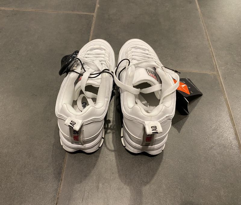 Белые кроссовки на грубой подошве кроссы amisu есть размеры - Фото 4