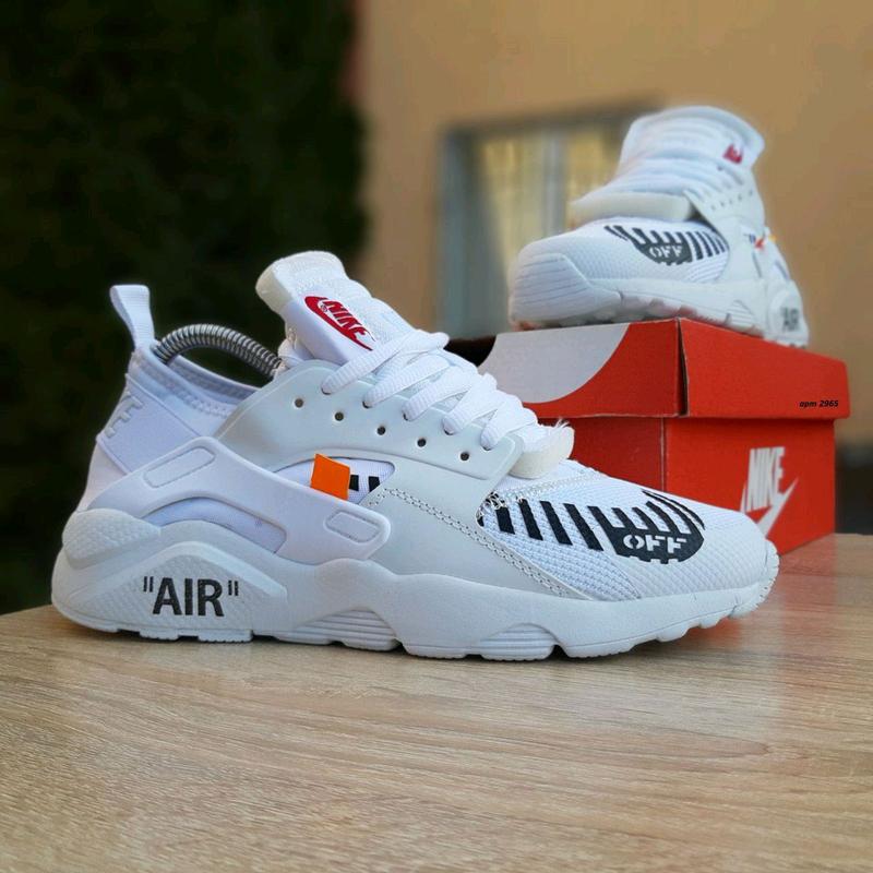 Кроссовки женские Nike Huarache x OFF White белые. Артикул 2965.