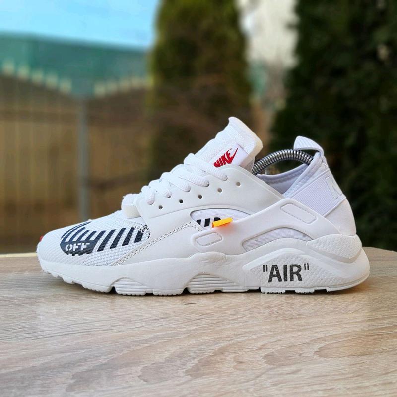 Кроссовки женские Nike Huarache x OFF White белые. Артикул 2965. - Фото 8