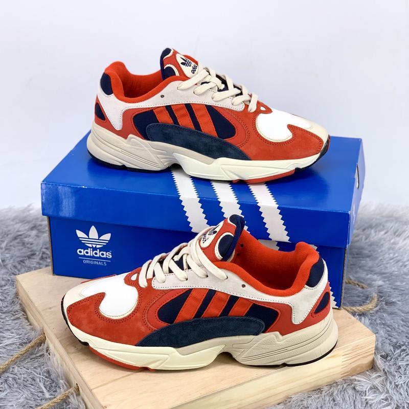 Кроссовки женские / мужские adidas yung 1 white red blue