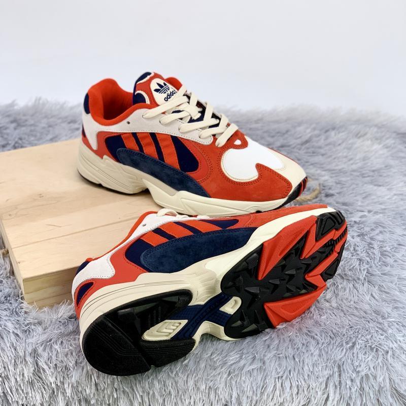 Кроссовки женские / мужские adidas yung 1 white red blue - Фото 2