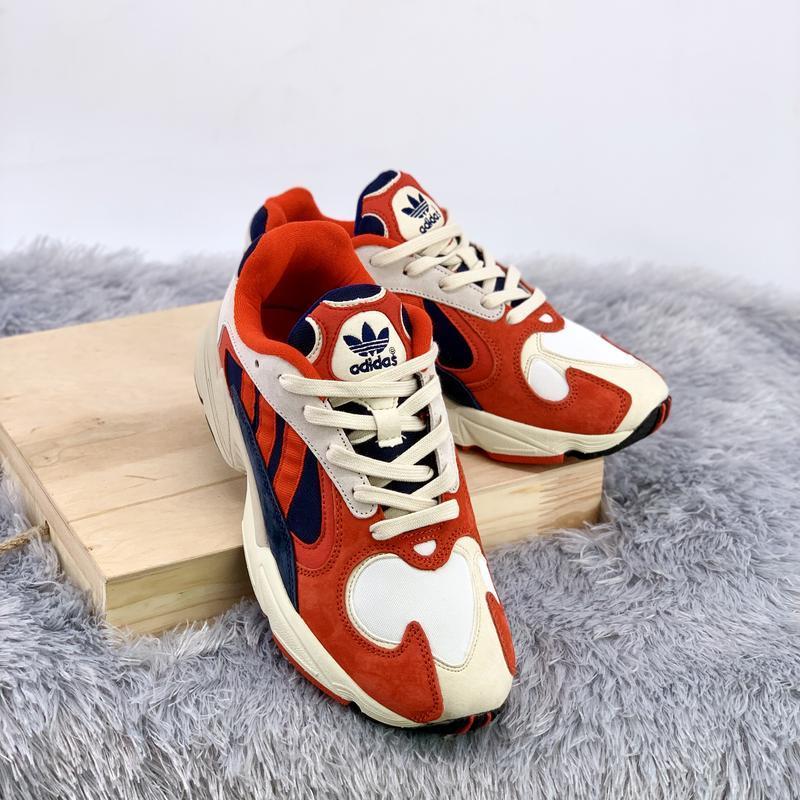 Кроссовки женские / мужские adidas yung 1 white red blue - Фото 3