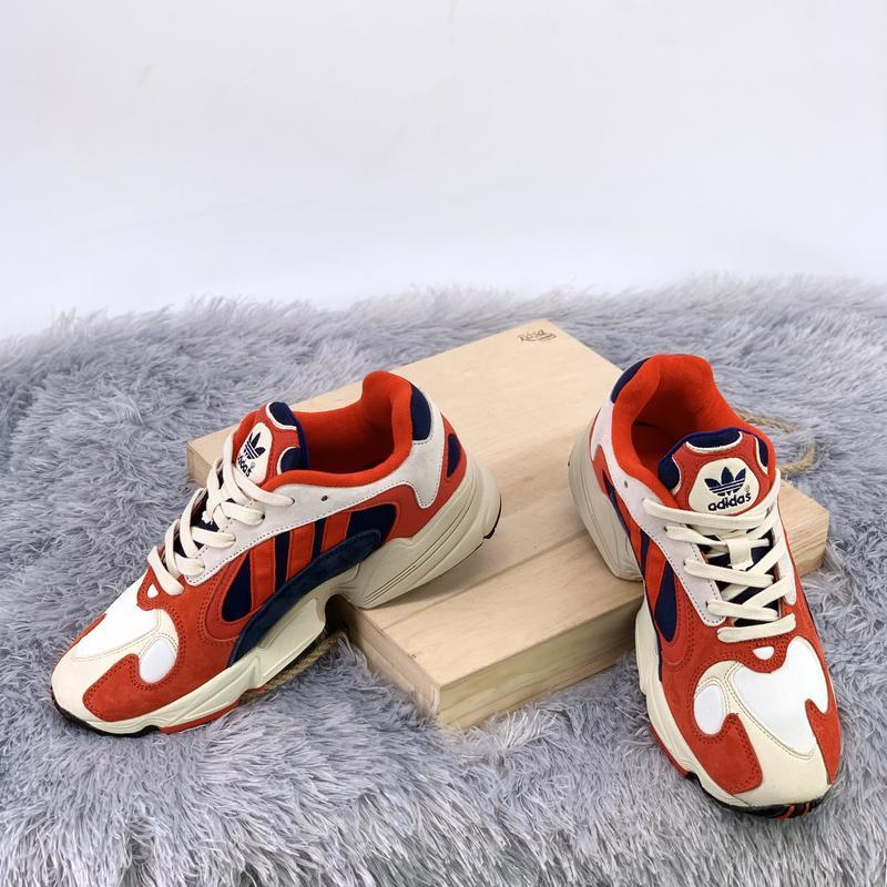 Кроссовки женские / мужские adidas yung 1 white red blue - Фото 4