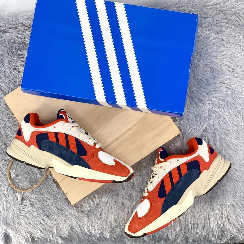 Кроссовки женские / мужские adidas yung 1 white red blue - Фото 5