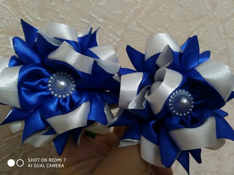 Нежные бантики- цветы на резиночках - Фото 2