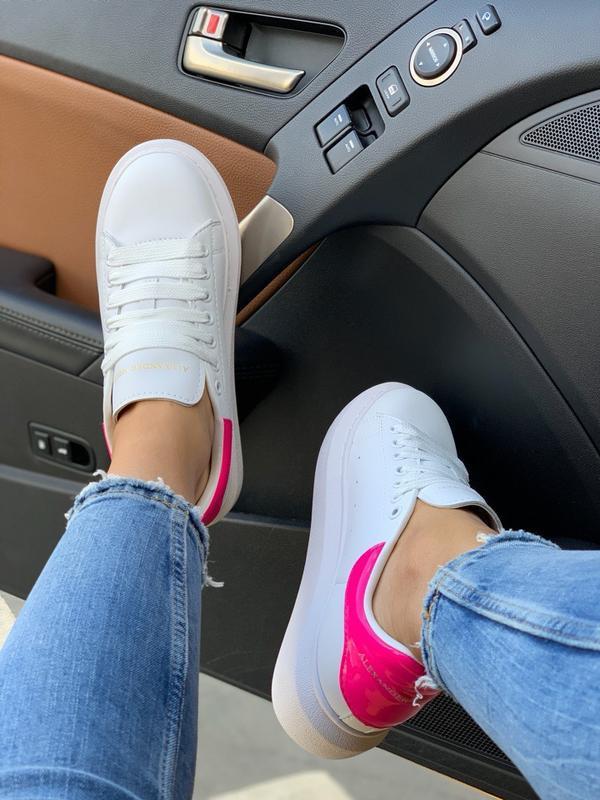 Кроссовки женские mcqueen pink - Фото 2