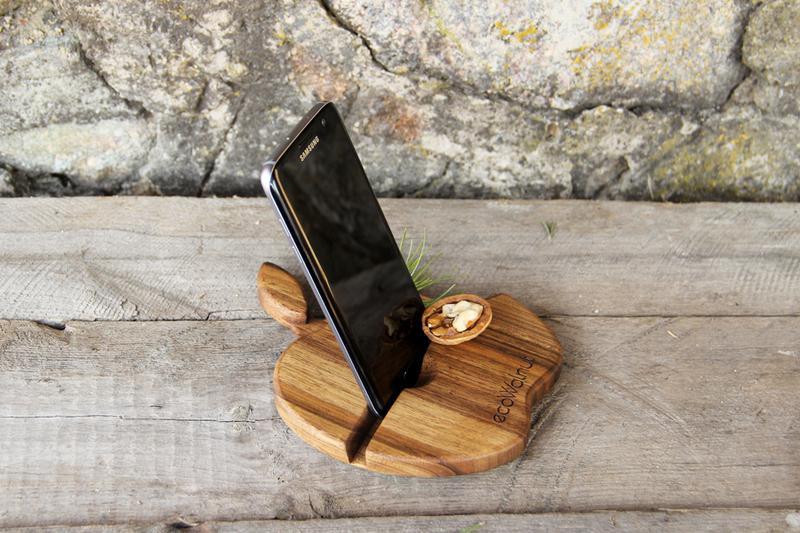 Настольный органайзер подставка для смартфона в подарок на юбилей - Фото 4