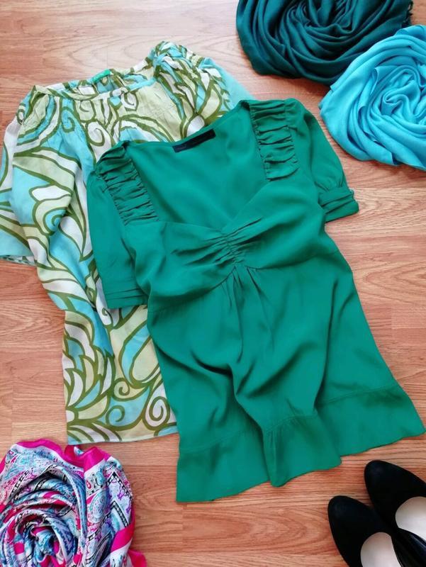 Женская легкая яркая брендовая блуза next - размер 46