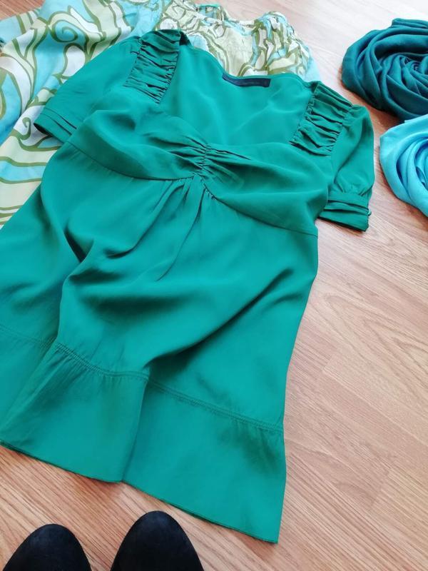 Женская легкая яркая брендовая блуза next - размер 46 - Фото 6