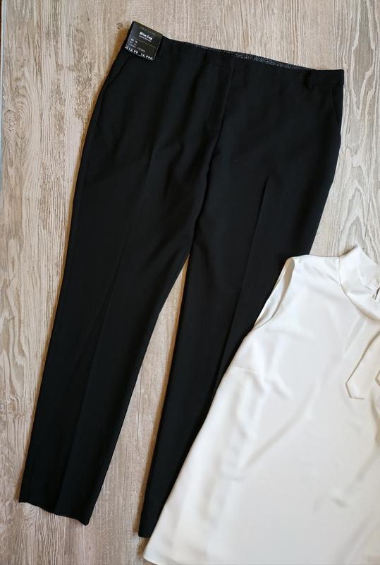 Классические зауженные брюки new look размер 16 - Фото 2